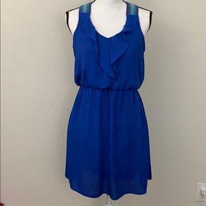 Xhilaration blue racer back dress size M